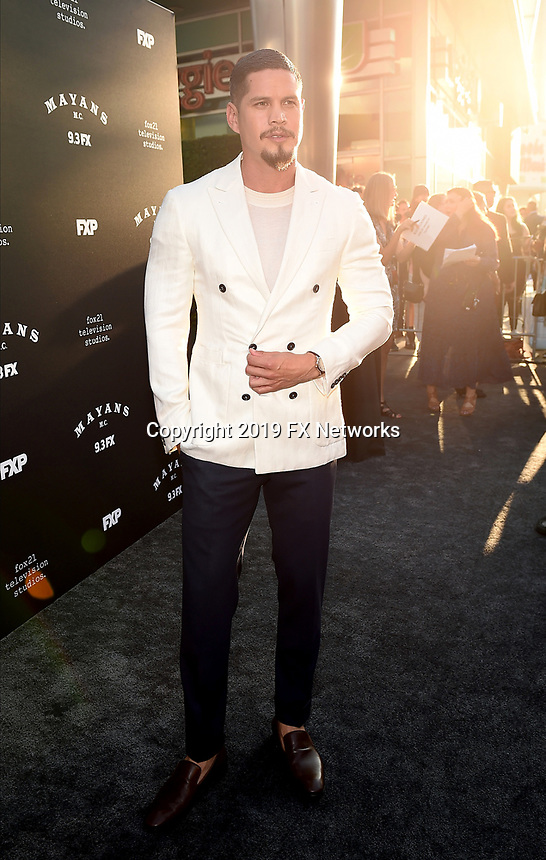 """LOS ANGELES - AUGUST 27: JD Pardo attends the season two red carpet premiere of FX's """"Mayans M.C"""" at the ArcLight Dome on August 27, 2019 in Los Angeles, California. (Photo by Frank Micelotta/FX/PictureGroup)"""