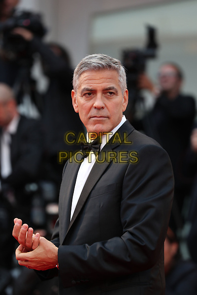 VENICE, ITALY - SEPTEMBER 02: George Clooney walks the red carpet ahead of the 'Suburbicon' screening during the 74th Venice Film Festival at Sala Grande on September 2, 2017 in Venice, Italy. <br /> CAP/GOL<br /> &copy;GOL/Capital Pictures