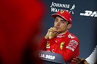 #16 Charles Leclerc, Scuderia Ferrari. <br /> Press conference <br /> Italian GP, Monza 5-8 September 2019<br /> Monza 07/09/2019 GP Italia <br /> Formula 1 Championship 2019 <br /> Photo Federico Basile / Insidefoto