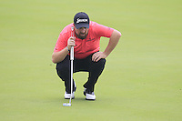 Shane Lowry (IRL) on the 10th green during Friday's Round 2 of the 2014 BMW Masters held at Lake Malaren, Shanghai, China 31st October 2014.<br /> Picture: Eoin Clarke www.golffile.ie