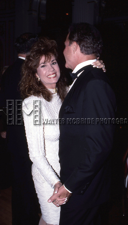 Frank Gifford & Kathie Lee Gifford attends the American Cancer Society Award for Artistic on May 31, 1990 in New York City.