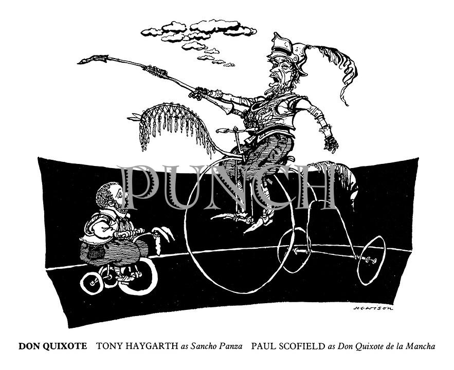 Don Quixote. Tony Haygarth as Sancho Panza, Paul Scofield as Don Quixote de la Mancha