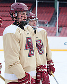 Mike Booth (BC - 12) - The Boston College Eagles practiced on the rink at Fenway Park on Friday, January 6, 2017.