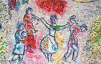 Marc Chagall Wall Four Seasons mosaic. Chicago Illinois USA