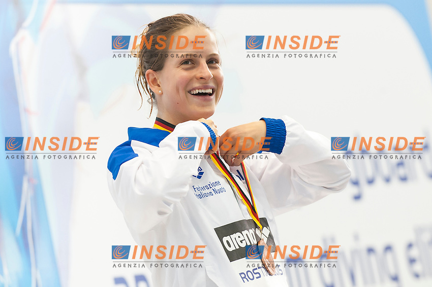 Noemi Batki ITA bronze medal<br /> Platform 10m Women final<br /> Day 02 10/06/2015  <br /> 2015 Arena European Diving Championships<br /> Neptun Schwimmhalle<br /> Rostock Germany 09-14 June 2015 <br /> Photo Giorgio Perottino/Deepbluemedia/Insidefoto
