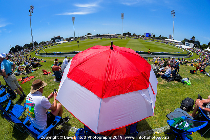 A general view during day two of the international cricket 1st test match between NZ Black Caps and England at Bay Oval in Mount Maunganui, New Zealand on Friday, 22 November 2019. Photo: Dave Lintott / lintottphoto.co.nz
