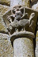 Europe/France/Midi-Pyrénées/46/Lot/Marcilhac-sur-Célé: Chapiteaux  romans de la salle capitulaire de l'ancienne  abbatiale