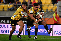 Hurricanes&rsquo; Ardie Savea in action during the Super Rugby - Hurricanes v Chiefs at Westpac Stadium, Wellington, New Zealand on Saturday  27 April 2019. <br /> Photo by Masanori Udagawa. <br /> www.photowellington.photoshelter.com