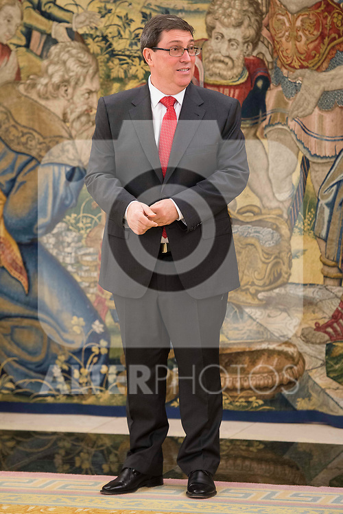 Sr. Bruno Eduardo Rodriguez Parrilla, Minister of foreign relations of the republic of cuba at Zarzuela Palace in Madrid, April 17, 2017. Spain.<br /> (ALTERPHOTOS/BorjaB.Hojas)