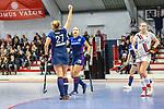 Stine Kurz #27 of Mannheimer HC, Charlotte Gerstenhoefer #28 of Mannheimer HC beim Spiel der Hockey Bundesliga Damen, TSV Mannheim (hell) - Mannheimer HC (dunkel).<br /> <br /> Foto © PIX-Sportfotos *** Foto ist honorarpflichtig! *** Auf Anfrage in hoeherer Qualitaet/Aufloesung. Belegexemplar erbeten. Veroeffentlichung ausschliesslich fuer journalistisch-publizistische Zwecke. For editorial use only.