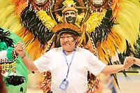 PARINTINS, AM, 28.06.2019: PARINTINS-AMAZONAS. Davi Kopenawa Yanomami, Lider Político Yanomami e atual presidente da Hutukara Associação Yanomami. Apresentação do Boi Caprichoso na primeira noite do 54o festival Folclorico de Parintins 2019, nesta sexta (28), no bumdódromo. Parintins fica a 370 km de Manaus.<br /> Foto: Sandro Pereira/Codigo19