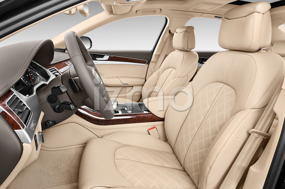 Front seat view of a 2013 Audi A8 L W12 4 Door Sedan 4WD