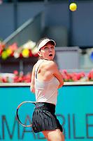 Simon Halep, Romania, during Madrid Open Tennis 2018 match. May 8, 2018.(ALTERPHOTOS/Acero) /NortePhoto.com