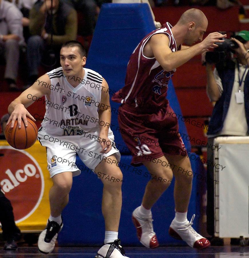 kosarka, good year league.PARTIZAN-BOSNA (SARAJEVO).DEJAN MILOJEVIC.BGD, 16.10.2004..FOTO: SRDJAN STEVANOVIC