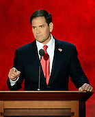 United States Senator Marco Rubio (Republican of Florida) makes remarks at the 2012 Republican National Convention in Tampa Bay, Florida on Thursday, August 30, 2012.  .Credit: Ron Sachs / CNP.(RESTRICTION: NO New York or New Jersey Newspapers or newspapers within a 75 mile radius of New York City)