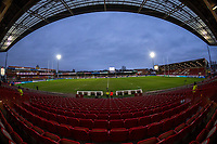 A general view of Kingsholm Stadium, home of Gloucester<br /> <br /> Photographer Bob Bradford/CameraSport<br /> <br /> European Rugby Heineken Champions Cup Group E - Gloucester v Montpellier Herault Rugby - Saturday 11th January 2020 - Kingsholm Stadium - Gloucester<br /> <br /> World Copyright © 2019 CameraSport. All rights reserved. 43 Linden Ave. Countesthorpe. Leicester. England. LE8 5PG - Tel: +44 (0) 116 277 4147 - admin@camerasport.com - www.camerasport.com