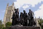 London - Great Britain / United Kingdom - 28 June 2008---Victoria Tower Gardens, south end of the Palace of Westminster, Houses of Parliament (without BB); sculpture by Auguste Rodin: the Burghers of Calais---culture, architecture, tourism---Photo: Horst Wagner / eup-images