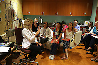 A teaching class for the nursing program at Martha Jefferson Hospital. Photo/Andrew Shurtleff