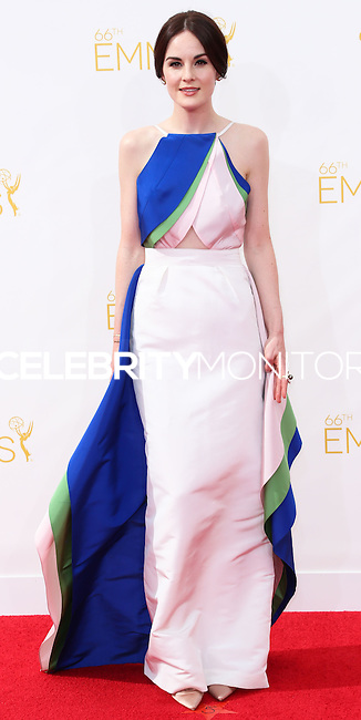 LOS ANGELES, CA, USA - AUGUST 25: Actress Michelle Dockery arrives at the 66th Annual Primetime Emmy Awards held at Nokia Theatre L.A. Live on August 25, 2014 in Los Angeles, California, United States. (Photo by Celebrity Monitor)