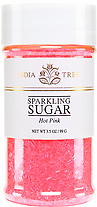 10217 Hot Pink Sparkling Sugar, Small Jar 3.5 oz