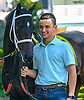 Andre Stock, assistant to J. Larry Jones LeadingShe Is Special at Delaware Park on 9/22/16