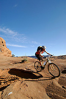 "Mountain biking on the ""Slickrock Trail"", Moab, Utah"