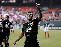DC United midfielder Fred (7) celebrates his score in the 50th minute of the game, DC United defeated The Charleston Battery  to win the US Open Cup, Wednesday September 3, 2008 at RFK Stadium.