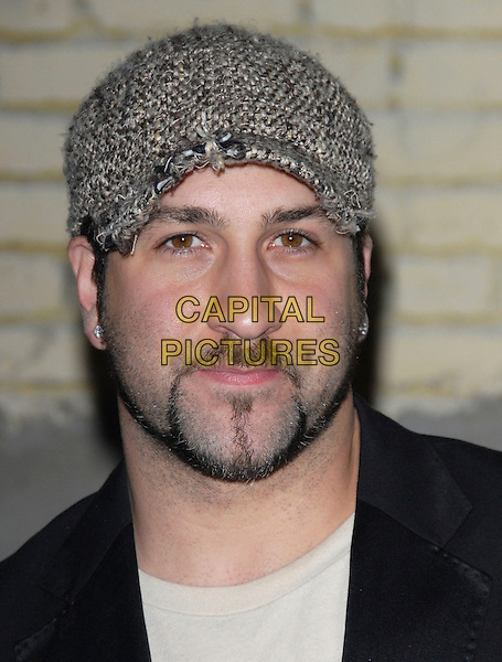 JOEY FATONE .The US Hot Hollywood 2007 held at Sugar in Hollywood, California, USA..April 26th, 2007.headshot portrait knitted tweed beige brown hat goatee facial hair .CAP/DVS.©Debbie VanStory/Capital Pictures