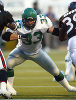 Chris Szarka Saskatchewan Roughriders 2003. Photo copyright Scott Grant.