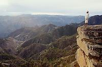 Tarahumara Indian Chief Julio at the rim of Copper Canyon.
