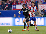 Fernando Torres vies with Koke during the UEFA Champions League semifinal first leg football match Club Atletico de Madrid vs Chelsea FC at the Vicente Calderon stadium in Madrid on April 22, 2014.   PHOTOCALL3000/DP-Sipa