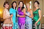 Ann Marie O'Leary, Camp, Marie Loughran, Tralee, Helen O'Sullivan Sheehan, Killarney, Claire Murphy, Banna and Carol Kennelly, Tralee at Kerry Fashion Weekend at the Brehon Hotel Killarney on Sunday.