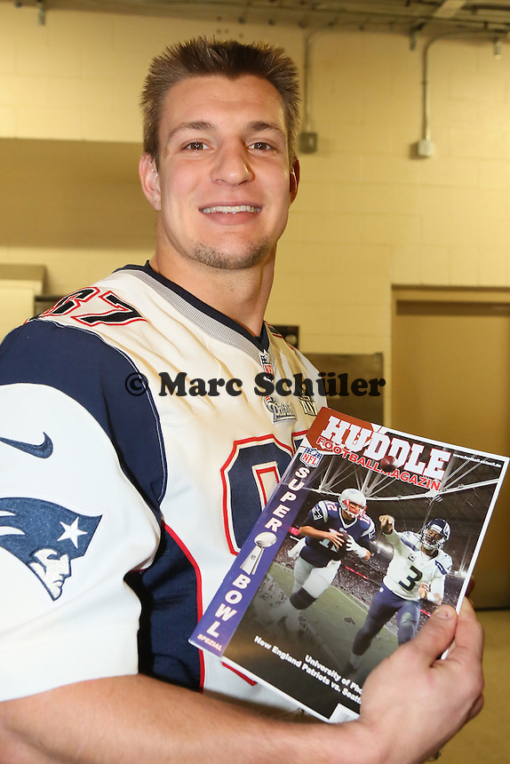 TE Rob Gronkowski (Patriots) - Super Bowl XLIX New England Patriots Team-PK, Sheraton Arizona Grand Hotel
