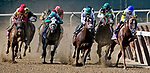 ELMONT, NY - JUNE 09: Bee Jersey  #10, ridden by Ricardo Santana, wins the Runhappy Metropolitan Handicap on Belmont Stakes Day at Belmont Park on June 9, 2018 in Elmont, New York. (Photo by Dan Heary/Eclipse Sportswire/Getty Images)