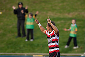 Tim Nanai Williams celebrates after scoring the Steelers third try. ITM Cup Round 1 game between the Counties Manukau Steelers and Otago, played at Bayer Growers Stadium, Pukekohe, on Saturday July 31st 2010. Counties Manukau Steelers won 29 - 13 after leading 22 - 6 at halftime.