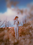 Kylla in June #2 (Infrared) © 2016 James D Peterson  A sunset vision of a lovely model whose range of haunting, wistful facial expressions make her a joy to work with.