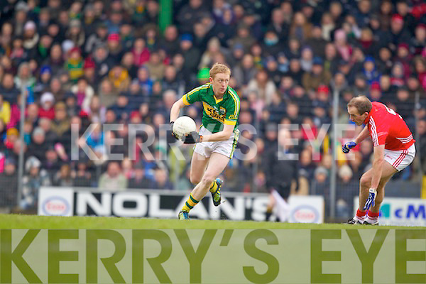 Colm Cooper Kerry in action against Paudie Kissane Cork in the National Football League at Austin Stack park, Tralee on Sunday.