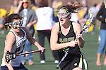 Santa Barbara, CA 02/18/12 - Lisa Fernholz (Colorado State #16) and Samantha Fannin (UC Davis #22) in action during the UC Davis - Colorado State game at the 2012 Santa Barbara Shootout.  Colorado State defeated UC Davis 10-9.