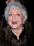 CELESTE HOLM.NOVEMBER 1, 2001.OPENING NIGHT OF BROADWAY'S NOISES OFF.AT THE BROOKS ATKINSON THEATRE IN.NEW YORK CITY..