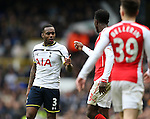 Tottenham's Danny Rose has an argument with Arsenal's Danny Welbeck<br /> <br /> Barclays Premier League- Tottenham Hotspurs vs Arsenal  - White Hart Lane - England - 7th February 2015 - Picture David Klein/Sportimage