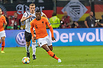 06.09.2019, Volksparkstadion, HAMBURG, GER, EMQ, Deutschland (GER) vs Niederlande (NED)<br /> <br /> DFB REGULATIONS PROHIBIT ANY USE OF PHOTOGRAPHS AS IMAGE SEQUENCES AND/OR QUASI-VIDEO.<br /> <br /> im Bild / picture shows<br /> <br /> Georginio WIJNALDUM (Niederlande / NED #08)<br /> Lukas Klostermann (Deutschland / GER #13)<br /> <br /> während EM Qualifikations-Spiel Deutschland gegen Niederlande  in Hamburg am 07.09.2019, <br /> <br /> Foto © nordphoto / Kokenge