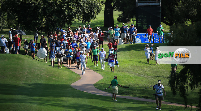 The gallery in pursuit of the final match of Charl Schwartzel (RSA) and Zander Lombard (RSA) during the Final Round of the 2016 Tshwane Open, played at the Pretoria Country Club, Waterkloof, Pretoria, South Africa.  14/02/2016. Picture: Golffile | David Lloyd<br /> <br /> All photos usage must carry mandatory copyright credit (&copy; Golffile | David Lloyd)
