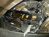 "Pictured: The damaged Honda Civic driven by devout Jewish man Jehoshua Gross <br /> Re: A devout Jewish man drove dangerously on four major roads so he could reach his destination before sundown, a court has heard.<br /> Jehoshua Gross, 27, from London, travelled 60 miles to Llandudno, Conwy after his car had been severely damaged in a crash.<br /> He did not stop because he observed the Sabbath from sunset on Fridays, Llandudno magistrates were told.<br /> He pleaded guilty and was banned from driving for 15 months and fined £415.<br /> The prosecution said that when travelling from London on July 29, Mr Gross had been in a ""no fault"" collision on the M56 motorway.<br /> His Honda Civic had severe front-end damage after colliding with the back of a heavy goods lorry."