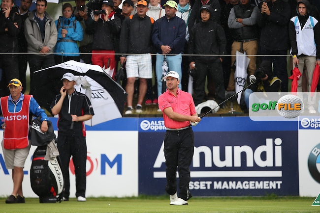 Graeme McDowell (NIR) drives down the last during the Final Round of the Alstom Open de France from Le Golf National, Guyancourt, Versailles, France. Picture:  David Lloyd / www.golffile.ie