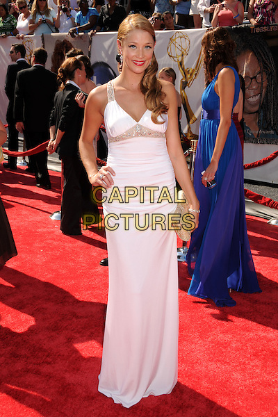 KRISTEN RENTON.35th Annual Daytime Emmy Awards at the Kodak Theatre, Hollywood, California, USA..June 20th, 2008.full length white dress hand on hip .CAP/ADM/BP.©Byron Purvis/AdMedia/Capital Pictures.