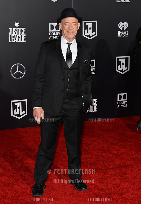 J. K. Simmons at the world premiere for &quot;Justice League&quot; at The Dolby Theatre, Hollywood. Los Angeles, USA 13 November  2017<br /> Picture: Paul Smith/Featureflash/SilverHub 0208 004 5359 sales@silverhubmedia.com