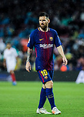 4th November 2017, Camp Nou, Barcelona, Spain; La Liga football, Barcelona versus Sevilla; Leo Messi moves forward for a corner kick