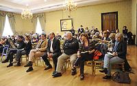 Roma, 16 Aprile 2011.Provincia di Roma, Sala Di Liegro.Commemorazione per Vittorio Arrigoni.Tra i partecipanti Giuliana Sgrena , Patrizia Sentinelli e Giorgio Cremaschi