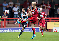 Michael Harriman of Wycombe Wanderers during the Sky Bet League 2 match between Crawley Town and Wycombe Wanderers at Checkatrade.com Stadium, Crawley, England on 29 August 2015. Photo by Liam McAvoy.
