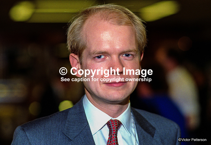 William Hague, MP, Conservative Party, UK, at annual conference, October 1992. 19921060WH.<br />